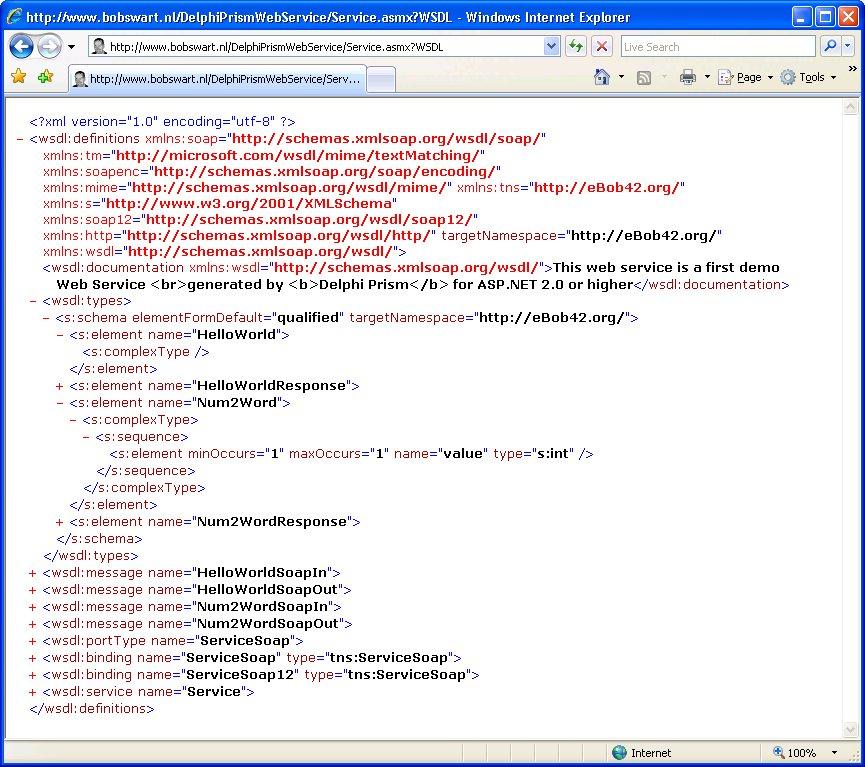 Xml Website Example: Dr.Bob Examines... #110: ASP.NET SOAP Web Services With